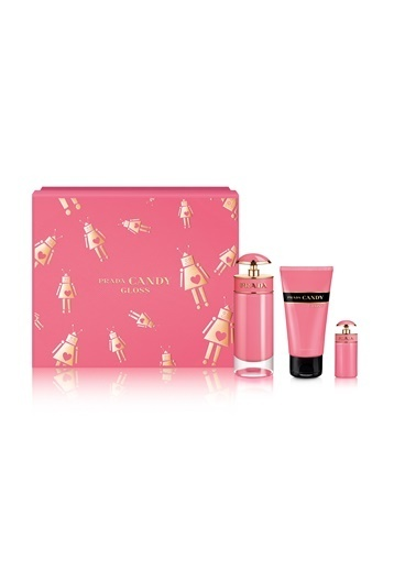 Prada Candy Gloss Edt 80 Ml+ 75 Ml Body Lotion+ Edt 7 Ml Kadın Parfüm Set Renksiz
